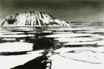 Alina Jackiewicz-Kaczmarek: Spitzbergen-Billefjorden II, Aquatinta, 61 x 93 cm